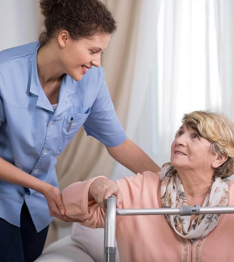 Healthcare workers and nursing staff members